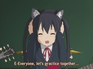 Azunyan tries so hard to lighten up the atmosphere.  Sa-wan has taught you well...